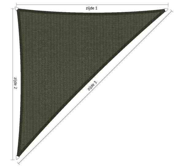 Schaduwdoek 2 5x2 5.Maatwerk Schaduwdoek Shadesail Shadow Comfort Driehoek Met