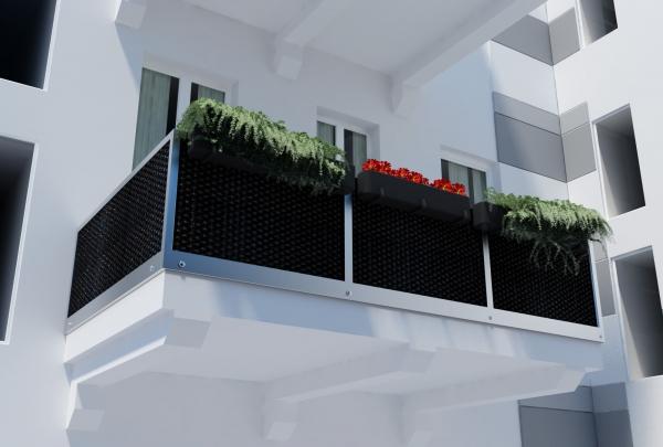 Zeil Voor Balkon : Balkon shadow comfort vlechtmat polyrattan nettenverkoop b v