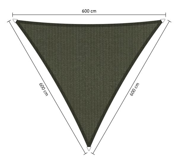 Schaduwdoek 4 X 6.Schaduwdoek Shadesail Shadow Comfort Driehoek Triangle 6 00x6