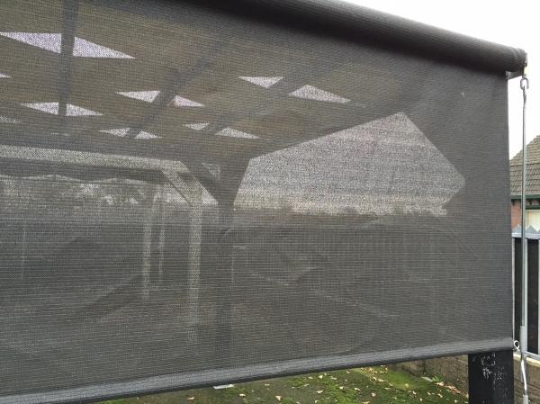 Winddoek schaduwdoek met oprolsysteem nettenverkoop b v - Doek voor tuinborstel ...
